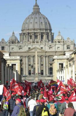 A left-wing rally by the Vatican
